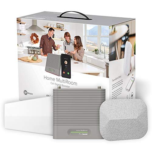 weBoost Home MultiRoom (470144) Cell Phone Signal Booster Kit   Up to 5,000 sq ft   All U.S. Carriers - Verizon, AT&T, T-Mobile, Sprint & More   FCC Approved