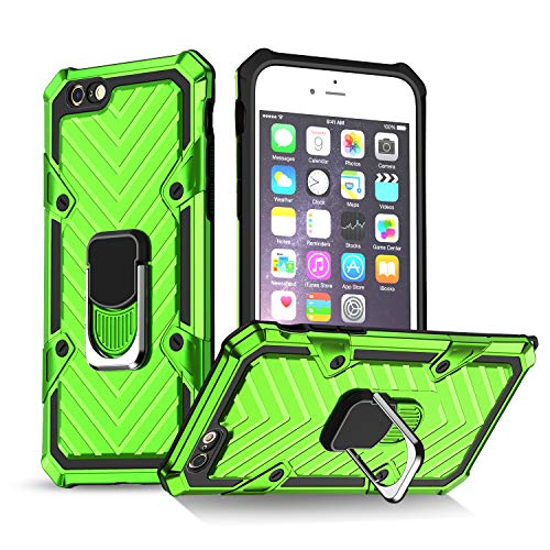 iPhone 6 Case   iPhone 6s Case   Kickstand   [ Military Grade ] 15ft. SGS Anti Drop Tested Protective Case   Compatible for Apple iPhone 6/6S-Green (iPhone 6/6s)