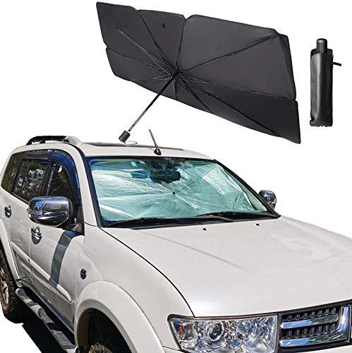 ZUWIT Windshield Shade, Car Sun Shade for Windshield, Foldable Parasol Sunshade for Car Windshield Block UV. (55 inches 31 inches)