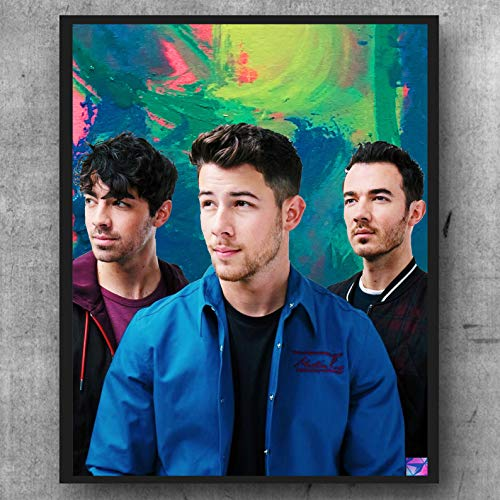 Jonas Brothers Poster Band Artwork Wall Art Illustration (8x10)