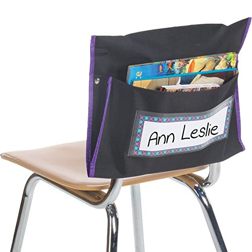 Really Good Stuff Student Book Collection Chair Pockets - Set of 36 - Classroom Chair Organizer Keeps Students Organized and Classrooms Neat