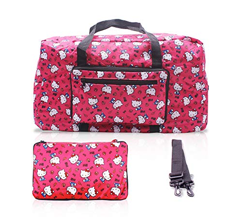 Finex Hello Kitty Foldable Easy-to-carry Travel Bag for airplanes with adjustable strap - Random Pink