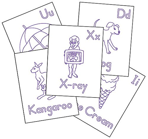 Therapro Raised Line Alphabet Coloring Sheets (26 Sheets)