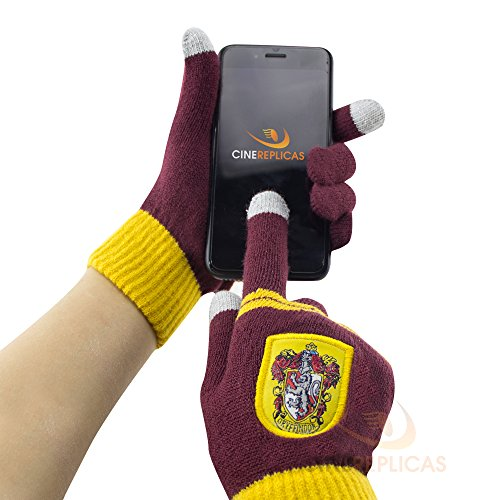 Cinereplicas Harry Potter Touchscreen Gloves for Smartphone & Tablets (Gryffindor Purple & Gold)