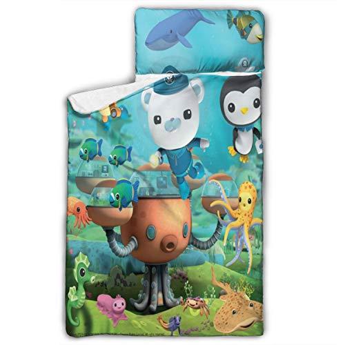 Aebipo The Oc-to-nauts Kids Toddler Nap Mat 50' X20' Foldable Cover Blanket Pillow Sleeping Bag Boys Girls Preschool Daycare Kindergarten Sleepovers