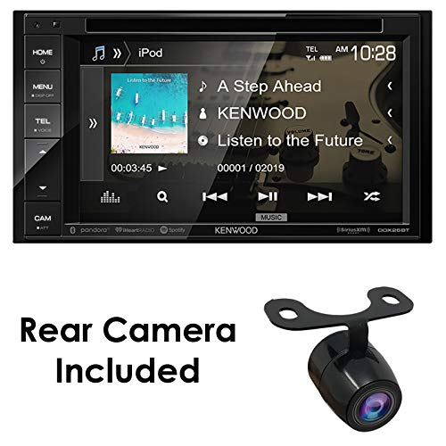 "Kenwood DDX26BT+XCTM380 Audio 6.2"" Double Din Bluetooth WVGA Touch Screen DVD Receiver w/HD Rear View Camera"