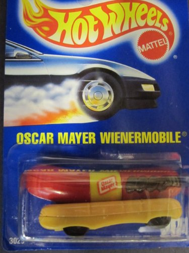 Wienermobile, Oscar Mayer (1991) Solid Blue Card By Hotwheels #204