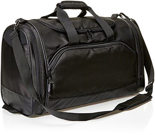 AmazonBasics Medium Lightweight Durable Sports Duffel Gym and Overnight Travel Bag - Black