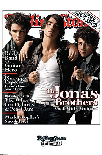 Trends International Rolling Stone Magazine - Jonas Brothers Wall Poster, 22.375' x 34', Premium Unframed Version