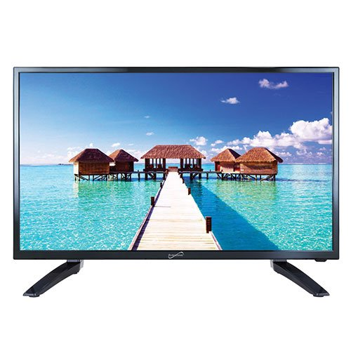 SuperSonic SC-3210 1080p LED Widescreen HDTV 32' Flat Screen with USB Compatibility, SD Card Reader, HDMI & AC Input: Built-in Digital Noise Reduction, (2019 Model)