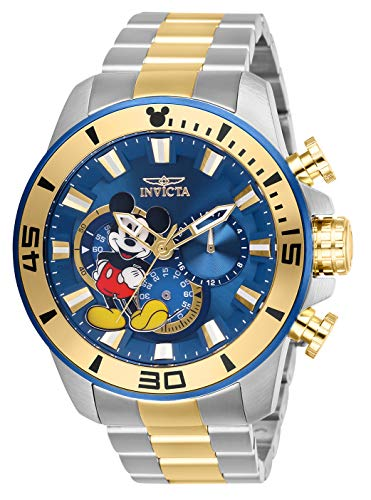 Invicta Men's Disney Limited Edition Quartz Watch with Stainless-Steel Strap, Two Tone, 24 (Model: 27365)
