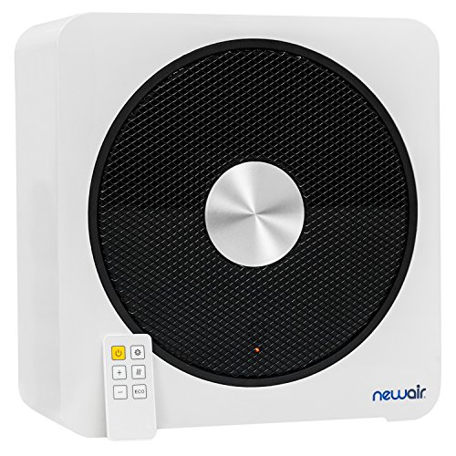 NewAir, Quietheat15B, 1500 Watt Portable Ceramic Space Heater, Heats Up to 250 Square Feet, Black