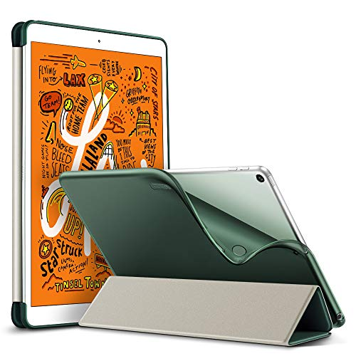 ESR Rebound Slim Case for iPad Mini 5 Case with Flexible TPU Back Cover, Smart Case with Auto Sleep/Wake Function and Viewing/Typing Stand for iPad Mini 2019 7.9 Inch - Dark Green