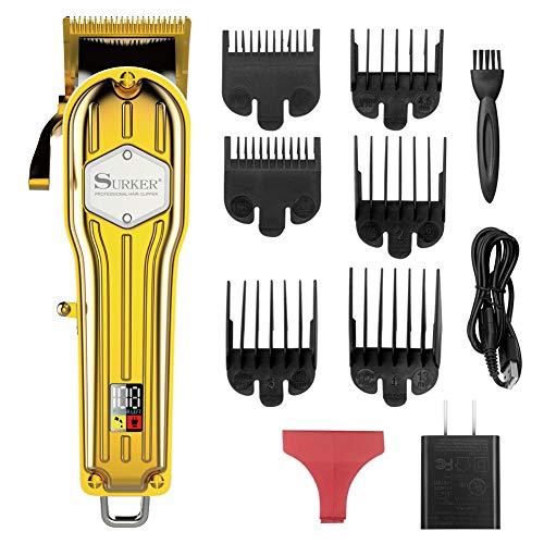 SURKER Hair Clippers for Men Trimmer for Men Hair Trimmer Beard Trimmer Barber Hair Cut Grooming Kit Machine Professional Rechargeable Cordless Quiet
