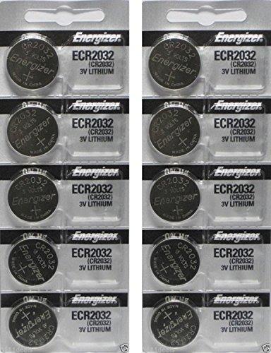 Energizer ECR2032 - Battery, 3 V, Lithium , 240 mAh, x 10 Pack - Packaging May Vary