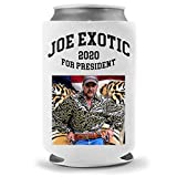 Cool Coast Products | Funny Tiger King Joe Exotic Parody Coolies - Big Cat Carole Baskin Funny Beer Can Coolies | Neoprene Insulated | Beverage Cans Bottles | Cold Beer Tailgating (2020 President)