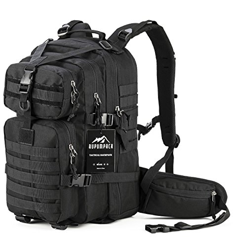 Military Tactical Backpack Hydration Backpack by RUPUMPACK, Army MOLLE Bug Out Bag, Small 3-Day Rucksack for Outdoor Hiking Camping Trekking Hunting School Daypack, 33L