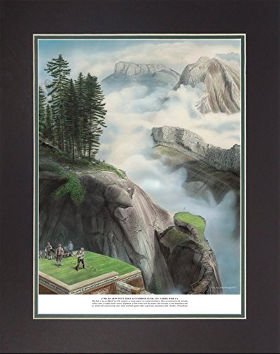Legends Never Die 'Infamous 18 Golf Holes' Double Matted Official Lithograph Print, Unframed 11 x 14', No. 10Alps International Golf Climbing Club