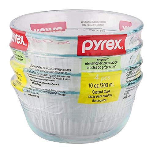 Pyrex 10-Ounce Glass Custard Cups, Set of 4