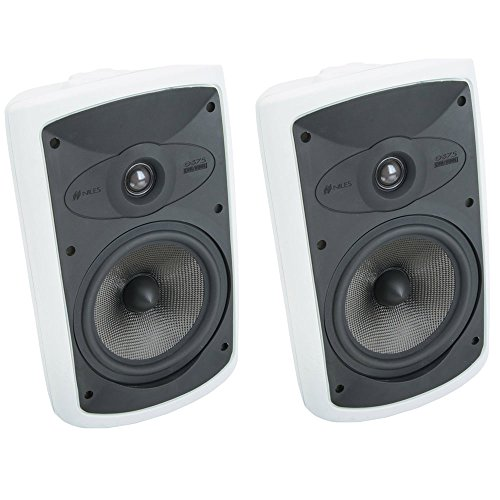 Niles OS7.5 7 Inch 2-Way High Performance Indoor/Outdoor Speakers - (Pair) White