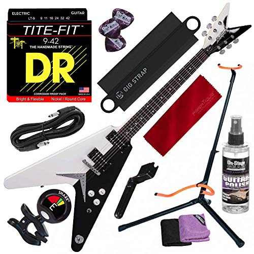Dean Michael Schenker Standard Electric Guitar with Guitar Stand & Clip-on Tuner Deluxe Accessory Bundle