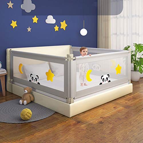 Bed Fence for Toddlers, Baby Bed Rail for Crib, Bed Guardrail, Anti-Fall Bed Rails for Queen Bed for Children, Toddlers, Infants -59.0In/70.8In/78.7In/86.8In, 1Pcs,Gray,150cm/59.0in