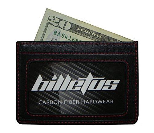 Billetus Minimalist Men's Genuine Leather Wallet - RFID Blocking Wallet (BLACK)