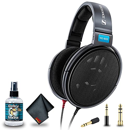 Sennheiser HD 600 Open Back Professional Headphone with 6Ave Cleaning Kit