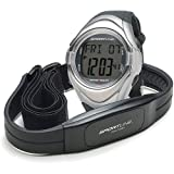 Sportline Duo 560 Dual Use Heart Rate Monitor Watch with Strap, Black
