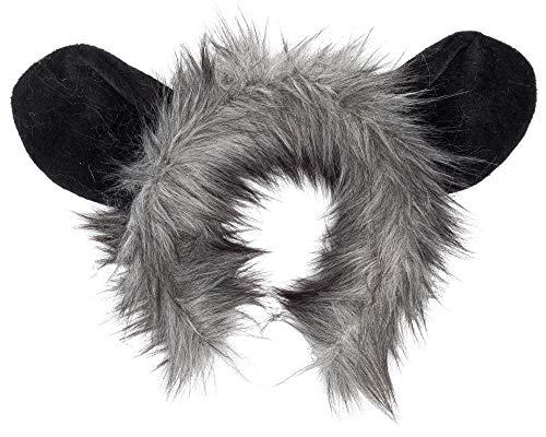 Wildlife Tree Plush Aye-Aye Lemur Ears Headband Accessory for Lemur Costume, Cosplay, Pretend Animal Play or Safari Party Costumes