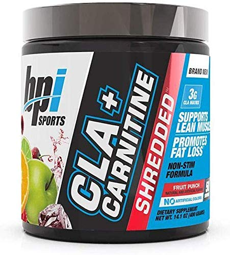 CLA + Carnitine Shredded Supports Lean Muscle Promotes Fat Loss Fruit Punch (14.1 oz. / 50 Servings)