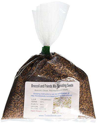 Broccoli and Friends Sprouting Seed Mix, One Pound