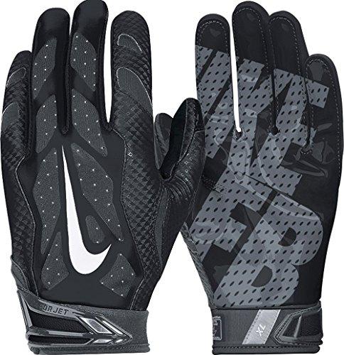 Men's Nike Vapor Jet 3.0 Football Gloves Black/Anthracite/White Size Medium