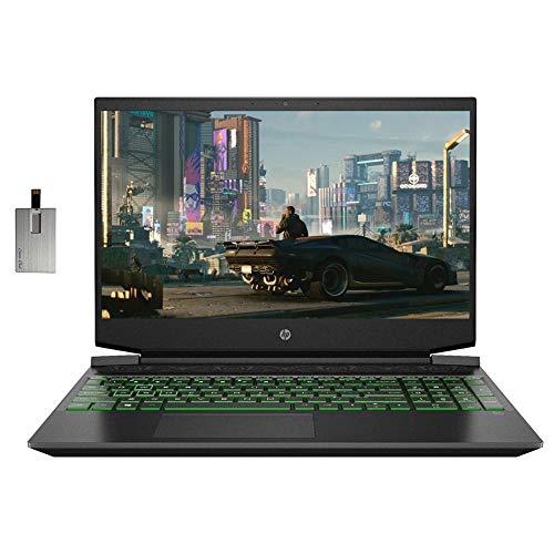 2021 HP Pavilion 15.6' FHD Gaming Laptop Laptop Computer, AMD Ryzen 5-4600H, 16GB RAM, 512GB PCIe SSD, Backlit Keyboard, B&O Audio, HD Webcam, GeForce GTX 1650, Win 10, Black, 32GB SnowBell USB Card