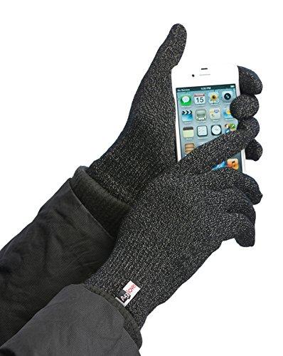 Agloves Sport Touchscreen Gloves, Gloves, Texting Gloves (Black, Extra Large)