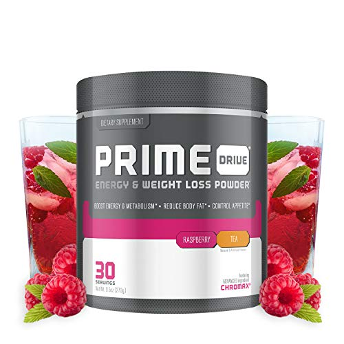 Complete Nutrition Prime Drive Energy & Weight Loss Powder, Raspberry Tea, Increase Energy, Boost Metabolism, Fat Burner, Appetite Suppressant, 9.5oz (30 Servings)