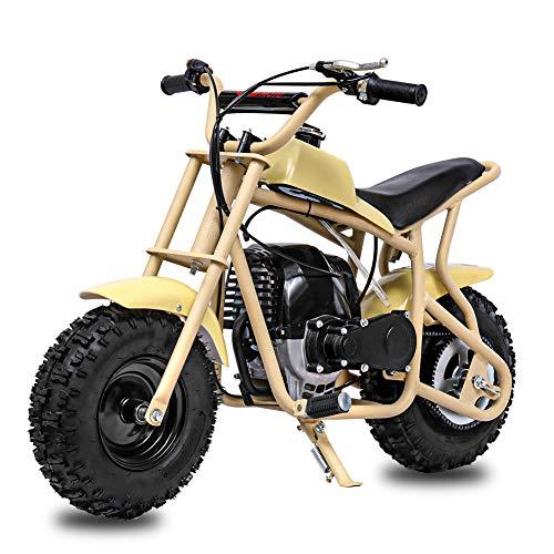 Fit Right 2020 DB003 40CC 4-Stroke Kids Dirt Off Road Mini Dirt Bike, Kid Gas Powered Dirt Bike Off Road Dirt Bikes, Gas Powered Trail Mini Bike - Ultra Edition (Yellow)