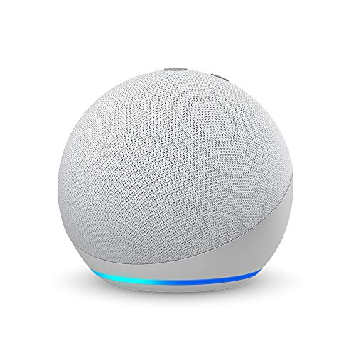 Certified Refurbished Echo Dot (4th Gen) | Smart speaker with Alexa | Glacier White