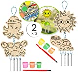 Wind Chime Kits DIY Wind Chimes Kits Craft Wind Chimes Kids Wind Chime Kit Wind Chime Making Kit Windchime Kits for Kids Color Your Own Wind Chime Kids Create Your Own Wind Chime Set of 2 Kits