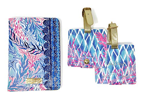 Lilly Pulitzer Travel Set Kaleidoscope Coral One Size