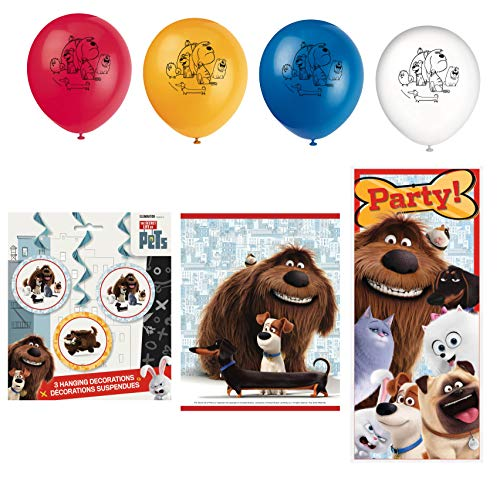 Unique Secret Life of Pets Birthday Party Favors and Decorations | Poster, Balloons, Hanging Swirls and Loot Bags
