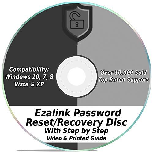 Ezalink Password Reset Recovery Disk for Windows 10, 8.1, 7, Vista, XP #1 Best Unlocker Remove Software CD DVD (For All PC Computers)