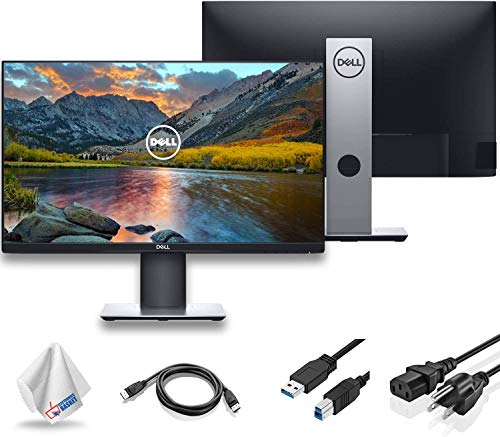 Dell P2719H 27' 16:9 Ultrathin Bezel IPS Monitor (P2719H) with Microfiber Cleaning Cloth - 1 - Pack