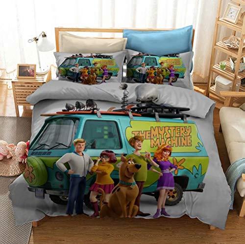 Kids Bedding Duvet Cover Set 2PCs Cartoon Scooby Doo Bed Sets for Boys Girls, Twin