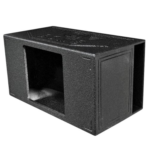 Q Power QBOMB15VL SINGLE SQ Single 15-Inch Side Vented Speaker Box for Kicker L7 Subwoofer with Durable Bed Liner Spray
