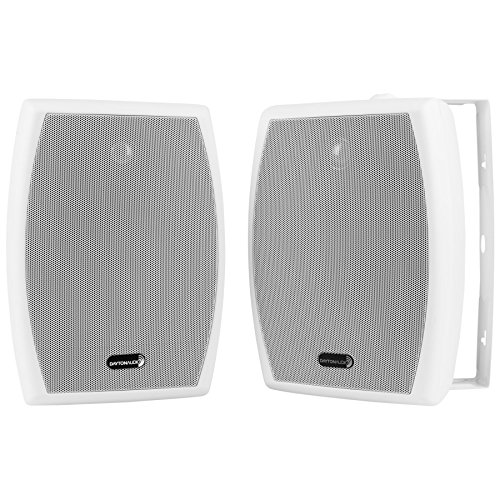 Dayton Audio IO655WT 6-1/2' 2-Way 70V Indoor/Outdoor Speaker Pair White