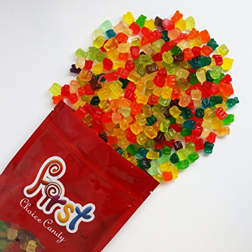 FirstChoiceCandy Mini Gummi Bears Mix 12 Flavor Gummy Cubs 2 Pound Resealable Bag