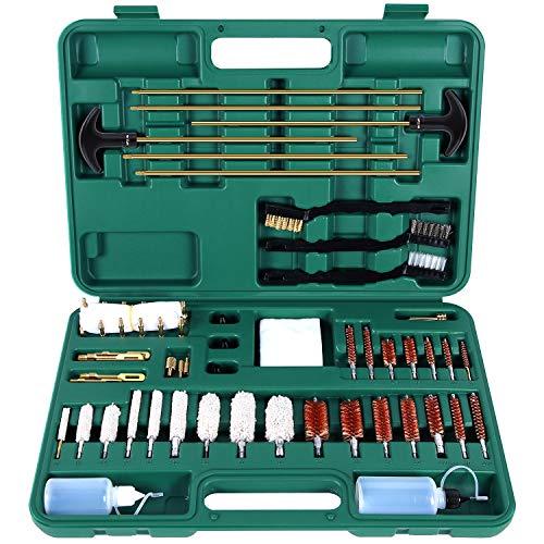 Sportneer Gun Cleaning Kits for Hunting Hand Gun, Shot Gun, Rifle, Pistols, Universal Gun Cleaning Brush Kit for All Guns with Carrying Case, 58 PCS