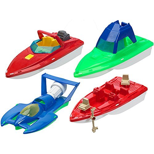 American Plastic Toys Deluxe Boat Assortment Toys Set (Case of 10) by American Plastic Toys
