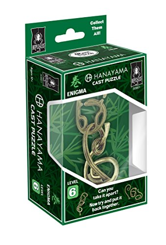 Bepuzzled ENIGMA Hanayama Cast Metal Brain Teaser Puzzle (Level 6) Puzzles For Kids and Adults Ages 12 and Up